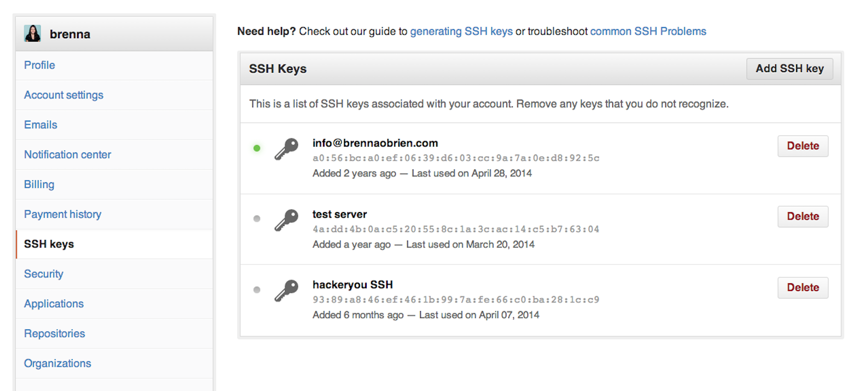 use ssh key with git clone